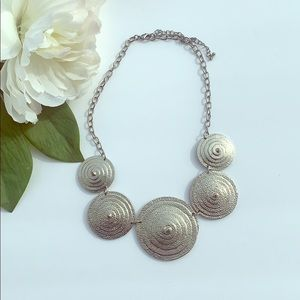 Silver Color statement necklace